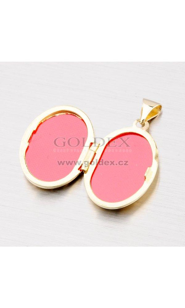 Zlatý medailonek s gravírováním 192-0301   Goldex.cz 53203cddee8