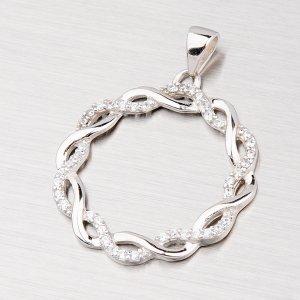 Stříbrný přívěsek osázený zirkony PXX07130010