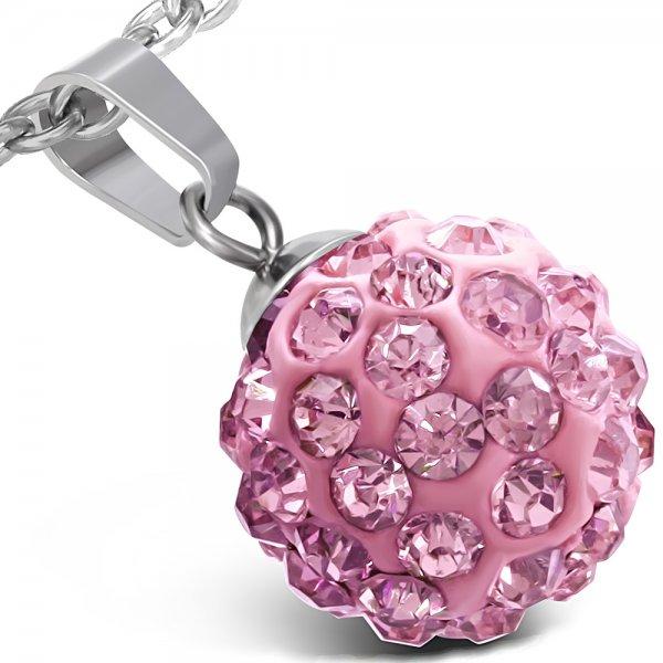 Kulička s růžovými krystalky GWPA163