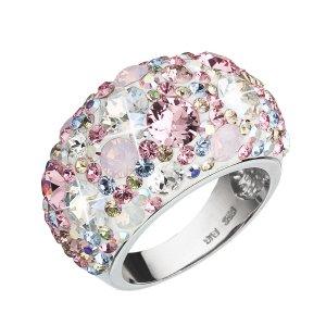 Stříbrný prsten s krystaly Swarovski růžový 35028.3 35028.3 MAGIC ROSE