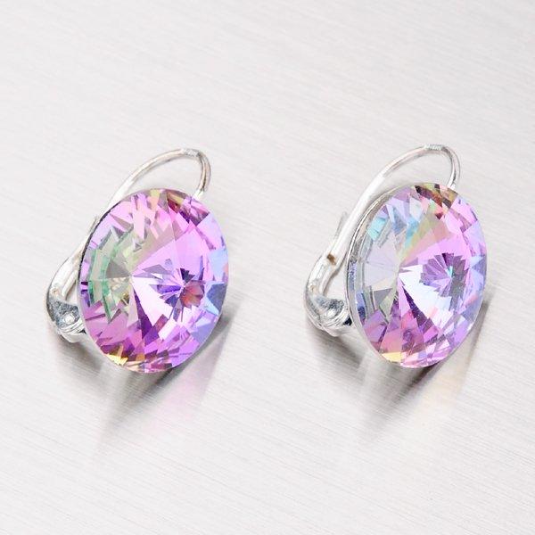 Stříbrné náušnice s krystaly 14 mm N335FZ-JK
