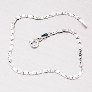 Náramek ze stříbra s gravírováním SLMCD201-1SD-040-Rh