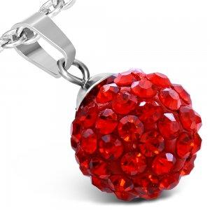 Kulička s červenými krystalky GWPA161