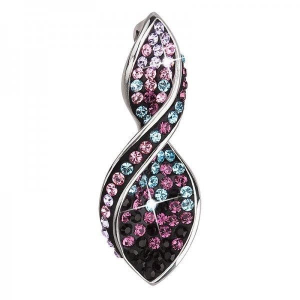 Stříbrný přívěsek s krystaly Swarovski fialová spirála 34166.3 34166.3 MAGIC VIOLET
