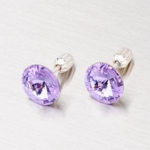 Stříbrné náušnice s krystaly 10 mm N381F