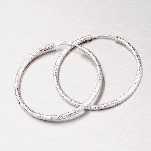 Stříbrné kruhy 35 mm M6000GEN-07