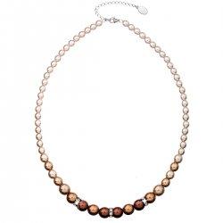 Perlový náhrdelník hnědý 32005.3 32005.3 BROWN