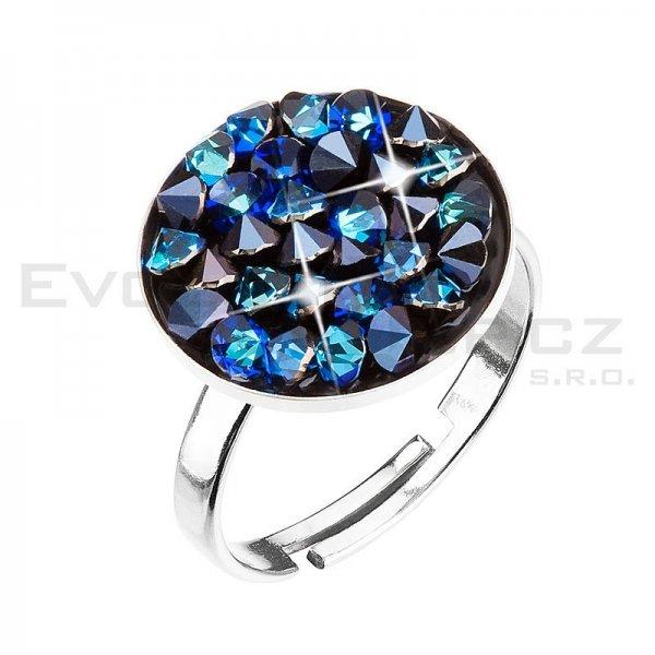 Prsten se Swarovski ELEMENTS 35033.5 BERMUDA BLUE