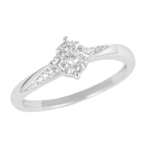 Dámský prsten s diamanty z bílého zlata GKW49631