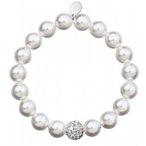 Perlový náramek bílý 33074.1 33074.1 BÍLÁ