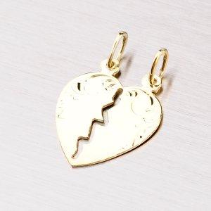 Zlaté srdce pro zamilovaný pár 43-2485