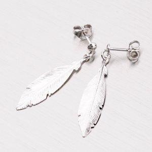 Náušnice peříčka ze stříbra MORP1484