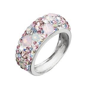 Stříbrný prsten s krystaly Swarovski růžový 35031.3 35031.3 MAGIC ROSE