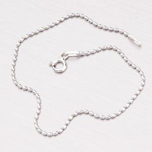 Stříbrný náramek z drobných oválků CPL-OVL-120-Rh