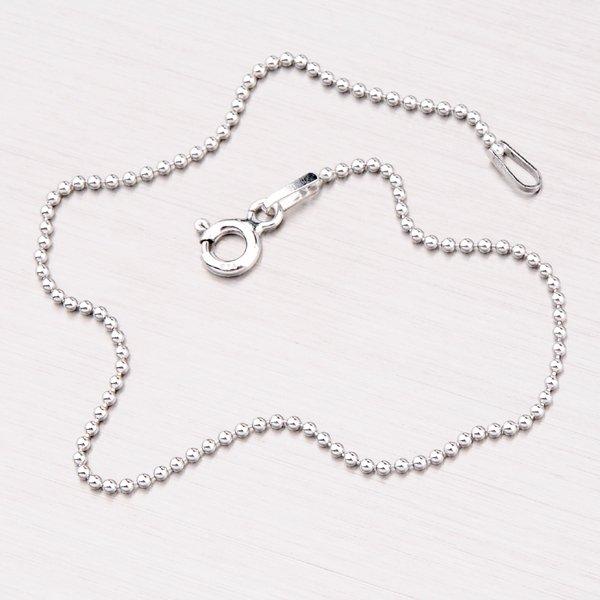 Stříbrný náramek z drobných kuliček CPL-120-Rh