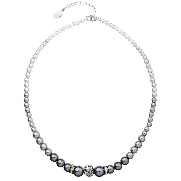 Perlový náhrdelník šedý 32008.3 32008.3 GREY