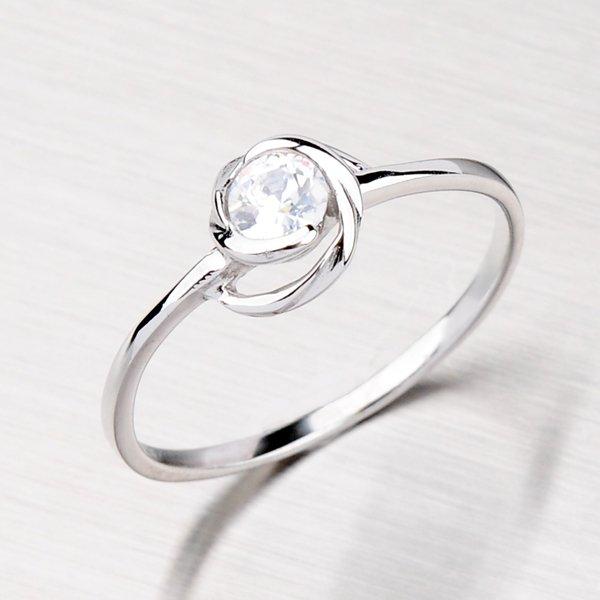 Stříbrný prsten se zirkonem ZR162