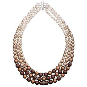 Perlový náhrdelník hnědý 32009.3 32005.3 BROWN