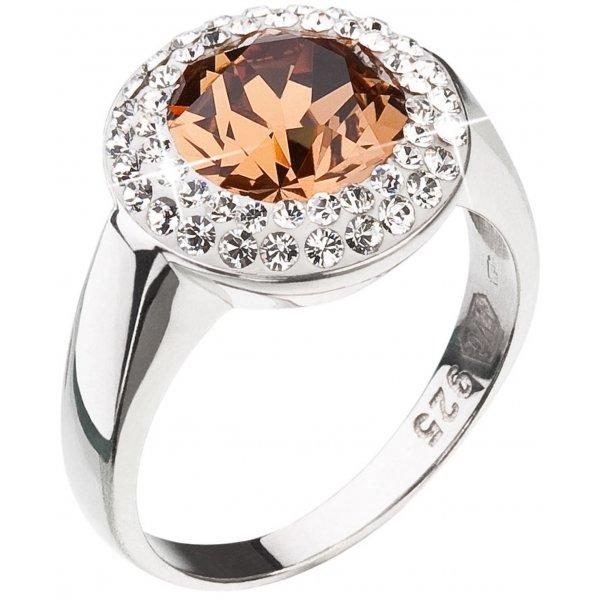 Prsten se Swarovski krystaly 35026.3 LT.SM.TOPAZ