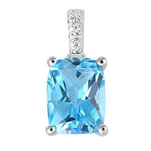 Přívěsek s topazem a diamanty GKW48536