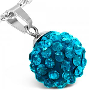 Kulička s modrými krystalky GWPA169