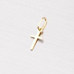 Zlatý jemný přívěsek ve tvaru kříže 322-0071