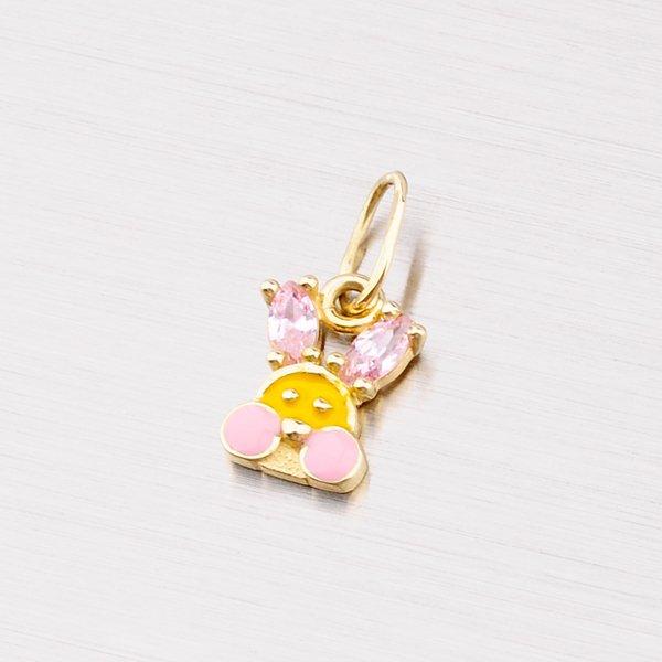 Zlatý králíček se zirkony 182-0099