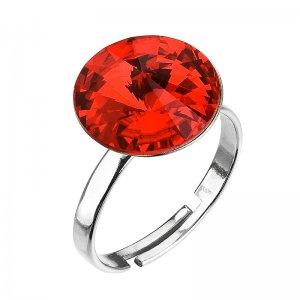 Stříbrný prsten s krystaly červený 35018.3 light siam 35018.3 LIGHT SIAM