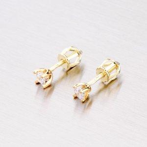 Zlaté pecky se zirkonem 42-31041