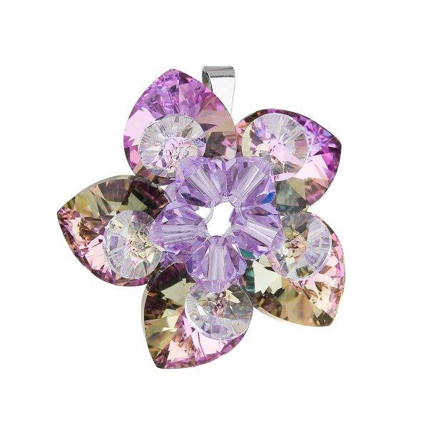 Stříbrný přívěsek s krystalem Swarovskifialová květina 34072.5 34072.5 001VL