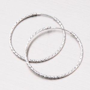 Třpytivé stříbrné kruhy 33 mm M8017ND150