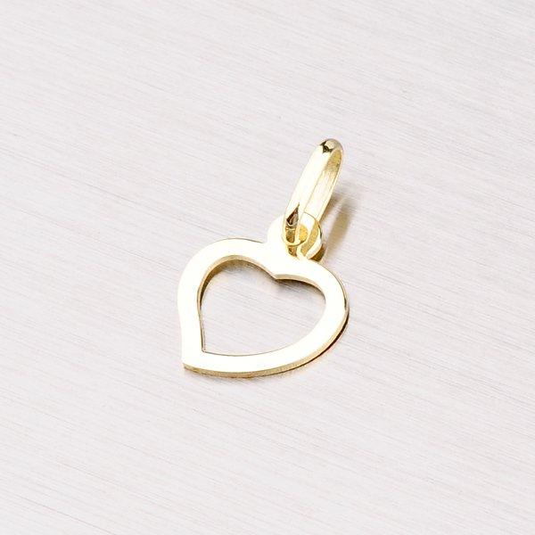 Srdce ze zlata s gravírováním 43-2037