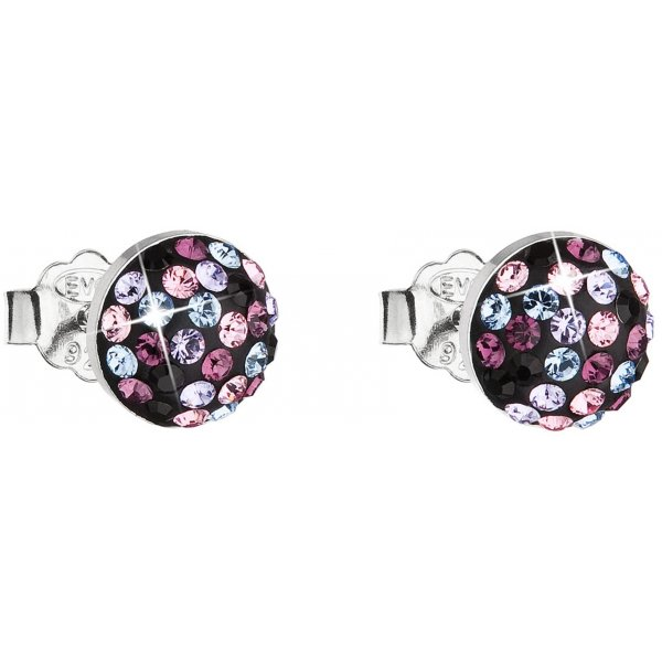Náušnice se Swarovski krystaly 31136.3 MAGIC VIOLET