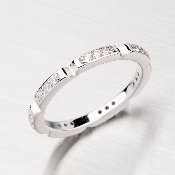Originální stříbrný prsten se zirkony RXB15140019