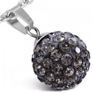 Kulička s šedými krystalky GWPA175