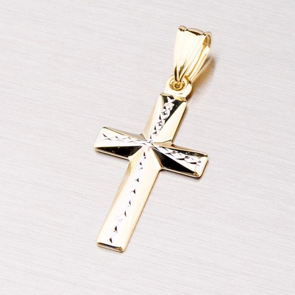 Zlatý kříž s gravírováním 43-2895