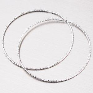 Třpytivé stříbrné kruhy 63 mm M8022ND150