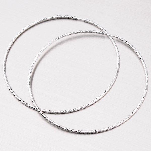 Třpytivé stříbrné kruhy 70 mm M8022ND150