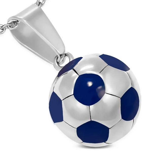 Ocelový přívěsek - fotbalový míč GPCX173