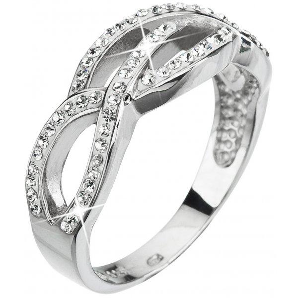 Prsten se Swarovski krystaly 35039.1 KRYSTAL