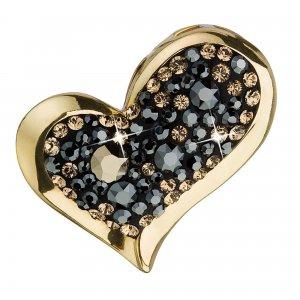 Stříbrný přívěsek s krystaly mix barev srdce 34184.4 colorado 34184.4