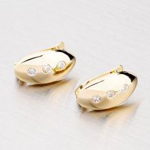 Zlaté náušnice 42-3010