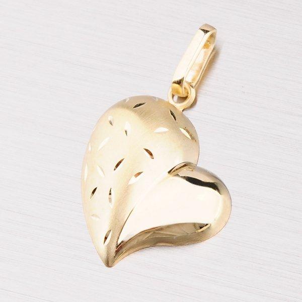 Srdce ze žlutého zlata 142-0821