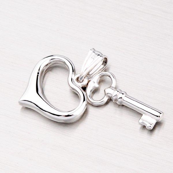 Stříbrné srdce s klíčem XXSTP11194-RD