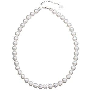 Perlový náhrdelník bílý 32011.1 32011.1 BÍLÁ