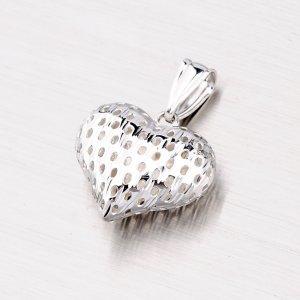 Srdce ze stříbra X4DCSTP10848-RD