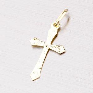 Zlatý kříž s gravírováním 322-1133