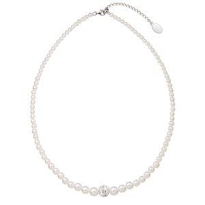 Perlový náhrdelník bílý 32006.1 32006.1-BÍLÁ