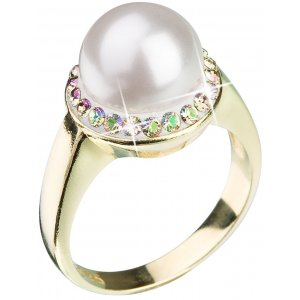 Prsten se Swarovski krystaly 35021.6 LUMINOUS GREEN