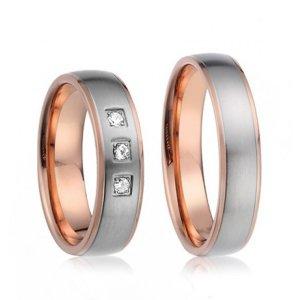 Ocelové snubní prsteny SP-7018